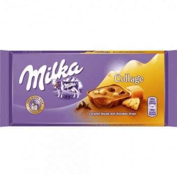 Шоколад Milka COLLAGE Caramel, 93 гр