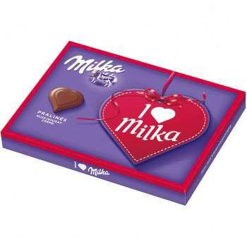 Набор шоколадных конфет Milka I Love Milka Nuss Nougat 110g