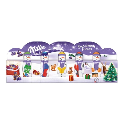 Шоколадный набор Снеговик и друзья Snowman Friends Milka 5x15 гр