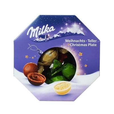 Набор шоколадных конфет Рождественская тарелка Milka 141 гр
