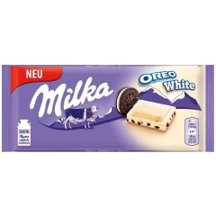 Milka Oreo White chocolate with cookies 100g