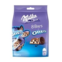 Шоколадный батончик Milka Snack Bag Oreo 222 гр