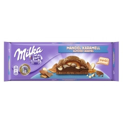 Шоколад Milka Almond Caramel Chocolate Bar 300 gr
