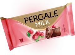 Молочный шоколад Pergale с клюквой 100 гр