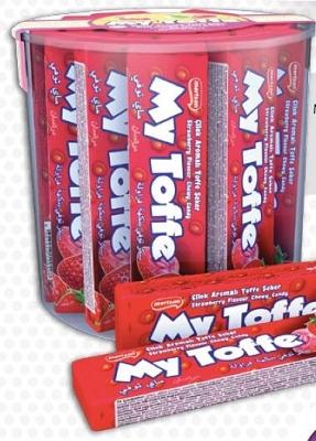 "Жевательные конфеты ""MY TOFFE STRAWBERRY"" 25гр"