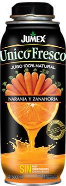 "Сок прямого отжима 100% Jumex Naranja y Zanahoria ""Апельсин и морковь""  500 мл"