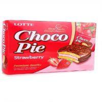 Клубничные пирожные Choco Pie Lotte (168 грамм)