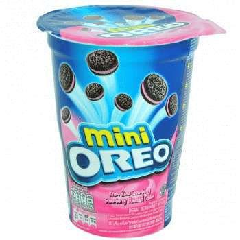 Печенье Oreo Mini с клубничным кремом 67 гр