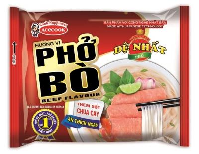 Рисовая Лапша со вкусом говядины De Nhat Pho Bo 65гр