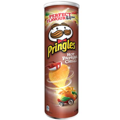 Чипсы Pringles hot paprika chilli 190гр