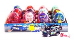 """Яйца с карамелью и игрушкой """"POLICE"""" (полицейские машины) 6гр"""