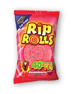 Жевательная резинка Lutti Roll Up Rip Strawberry 40гр