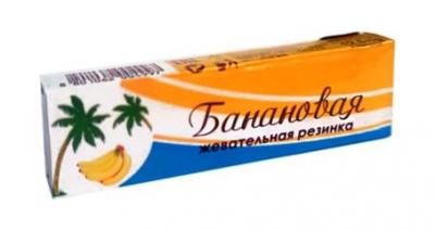 PLASTINKI жев. резинка Банановая 12.5 гр