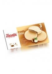Вафли Fiorella в белом шоколаде с ореховой начинкой 60гр