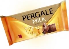 Молочный шоколад Pergale с хрустящей карамелью и солью 100 гр