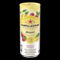 Газированный напиток San Pellegrino Momenti Лимон Малина 330 мл