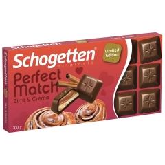 Молочный шоколад Schogetten PERFECT корица и сливочный крем 100гр