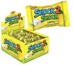 """Жевательная резинка """"SHOCK2SHOCK"""" LEMON (лимон) 4гр"""