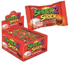 "Жевательная резинка ""SHOCK2SHOCK"" CHERRY (вишня) 4гр"
