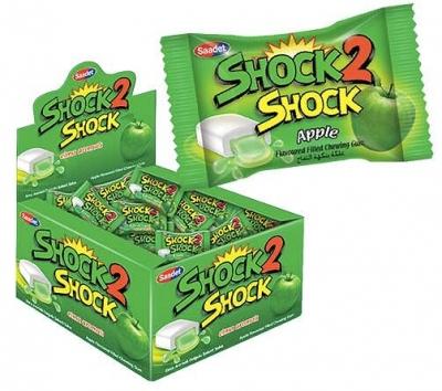 """Жевательная резинка """"SHOCK2SHOCK"""" APPLE (яблоко) 4гр"""
