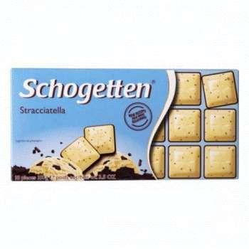 Schogetten Stracciatella Белый шоколад с какао-крошкой горького шоколада 100 г