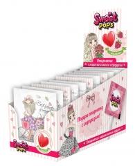 Sweet Pops Открытка с карамельным сердцем 10гр