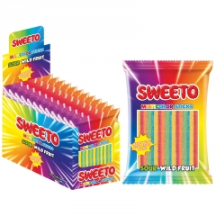 "Мармелад SWEETO ""MULTICOLOR STICKS"", кислые палочки Тутти-фрутти, 80гр"