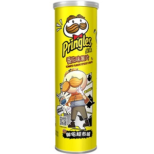 Чипсы Pringles tomato flavor potato crisps 110gr