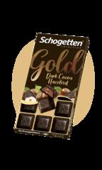 "Schogetten Dark Cocoa Hazelnut ""с какао-кремом и фундуком"" 100гр"