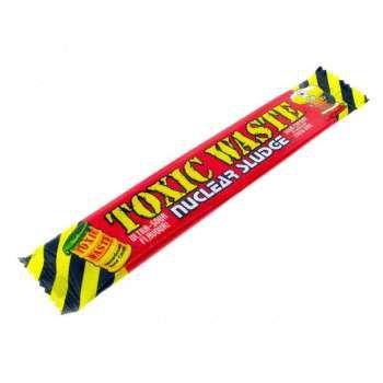 Кислая жевательная конфета Toxic Waste Nuclear sludge Bar (вишня)