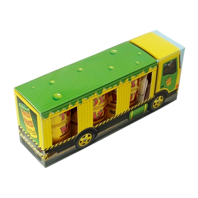Toxic Леденцы в грузовике 126гр*3шт (желтая бочка)