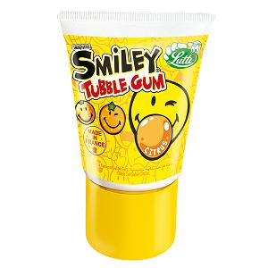 Жевательная резинка Lutti Tubble Gum Smiley (Citruc) 35 гр