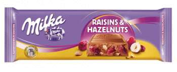 Milka Raisins & Hazelnuts 270 грамм