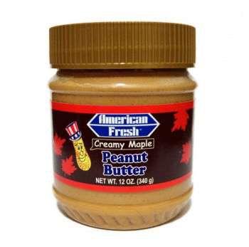 Паста арахисовая American Fresh кремовая с кленовым сиропом 340 гр