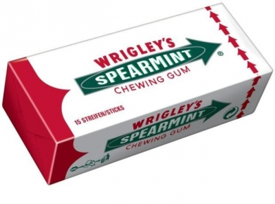 Wrigley Gum Spearmint 15 Пластинок