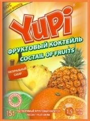 Растворимый напиток YUPI Фруктовый коктейль 15г