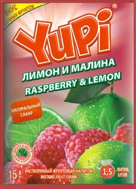 Растворимый напиток YUPI Малина-лимон 15г