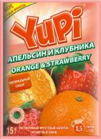 Растворимый напиток YUPI Апельсин-клубника 15г