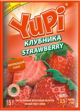 Растворимый напиток YUPI Клубника 15г
