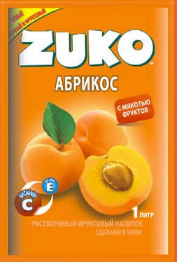 Растворимый напиток ZUKO Абрикос 25г
